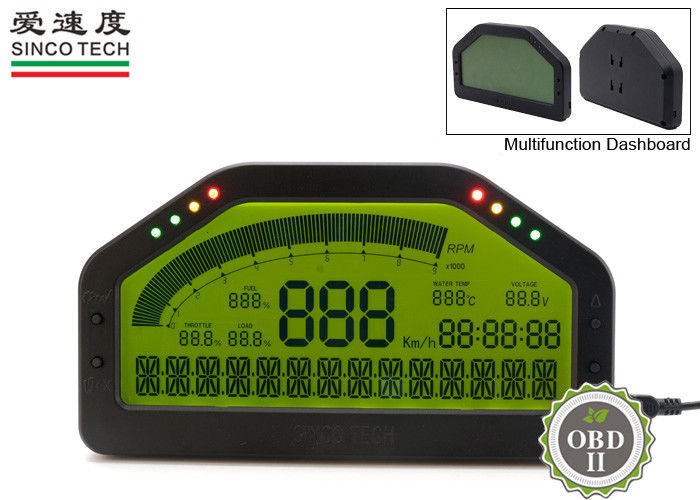 Digital Tachometer Gauge / Autometer Fuel Gauge Combination Display For OBDII Cars